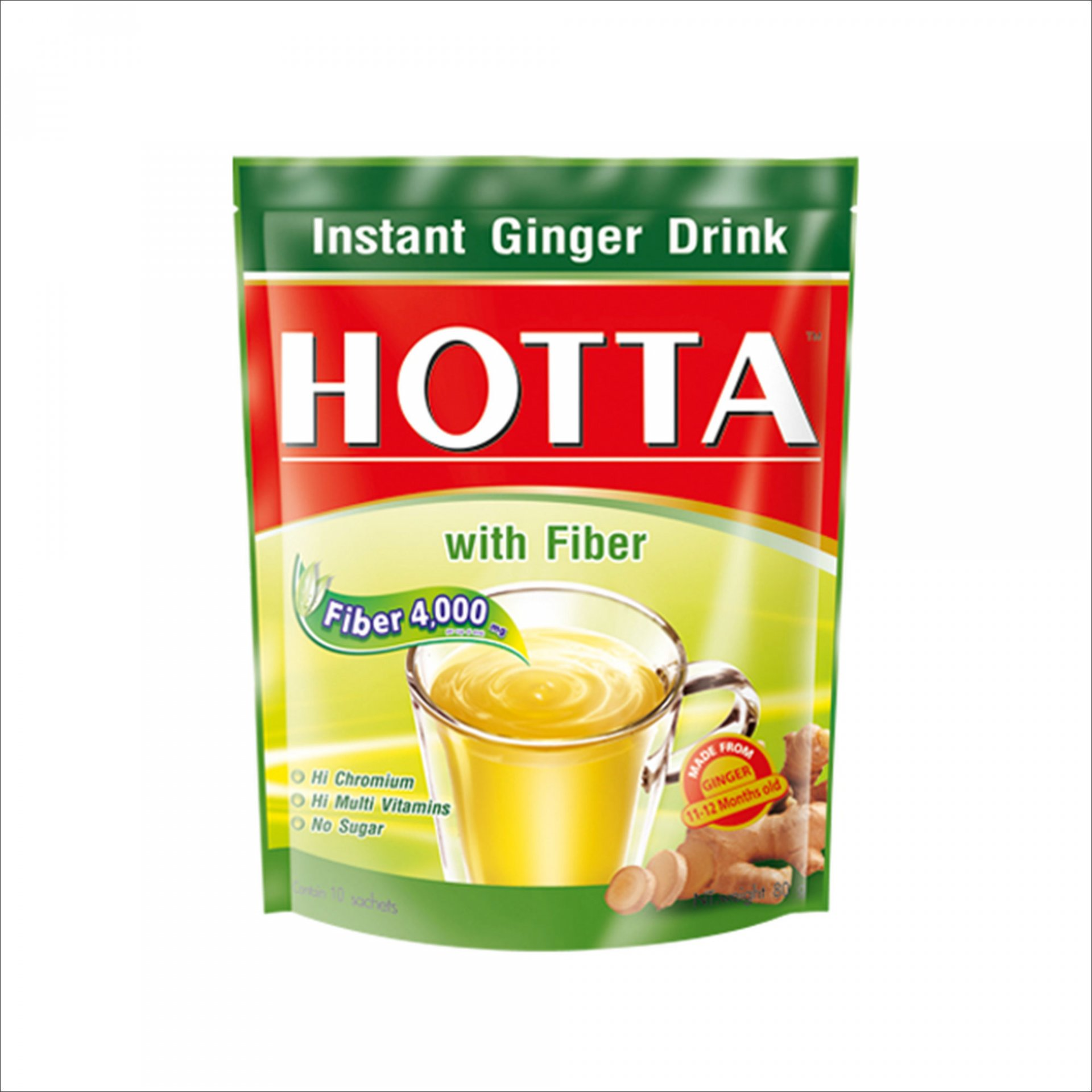 HOTTA Ginger with Fiber 80гр №10